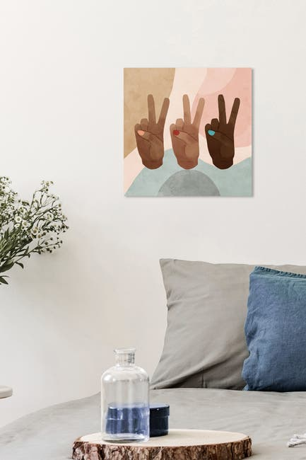 Image of Wynwood Studio Peace Together Brown Wall Art