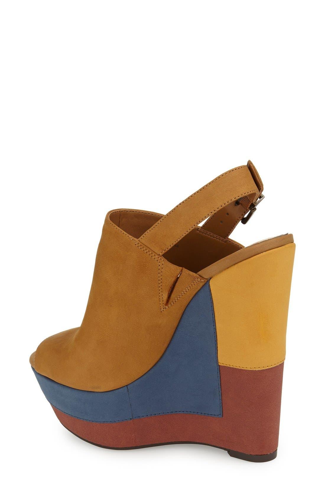 ,                             'Radina' Wedge Sandal,                             Alternate thumbnail 6, color,                             201