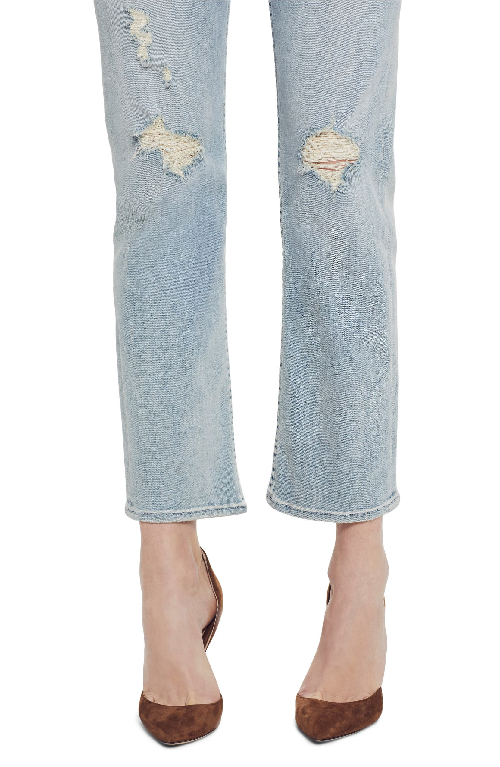 9c8695fe0c MOTHER The Tomcat High Waist Ripped Crop Straight Leg Jeans (Super Blast  from the Past) | Nordstrom