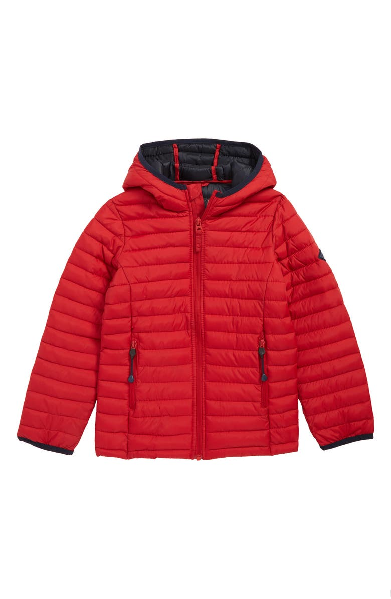 JOULES Cairn Packable Puffer Jacket, Main, color, RED