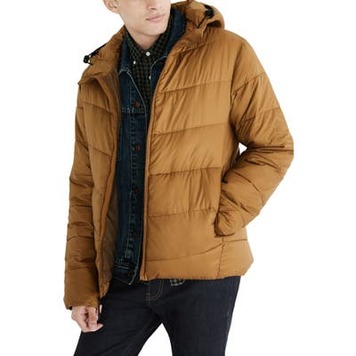 Madewell Packable Puffer Jacket, Brown