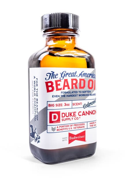 Image of DUKE CANNON Great American Beard Oil - Made with Budweiser