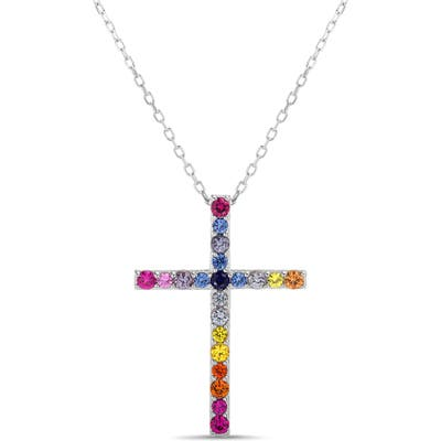 Lesa Michele Cross Pendant Necklace