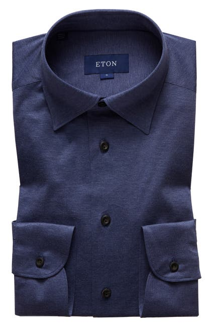 Image of Eton Soft Casual Line Slim Fit Jersey Shirt