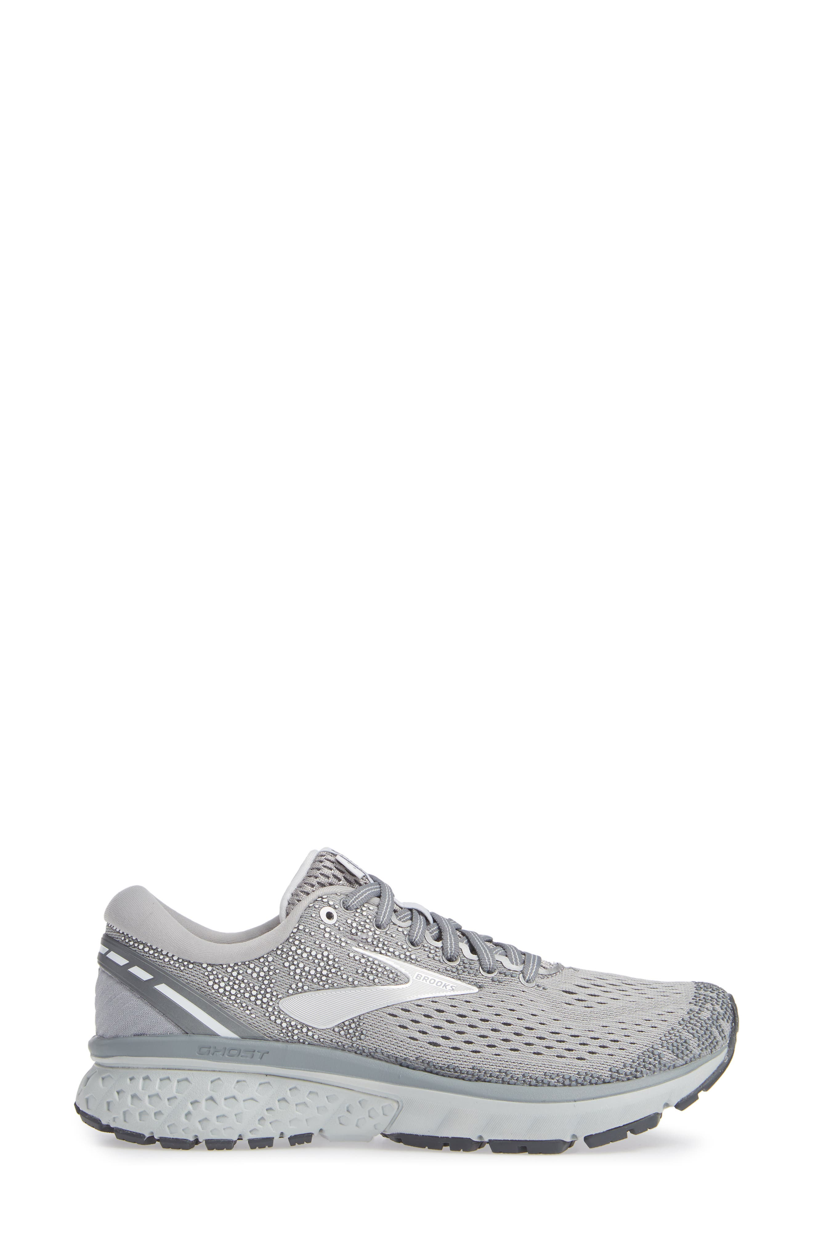 ,                             Ghost 11 Running Shoe,                             Alternate thumbnail 3, color,                             GREY/ SILVER/ WHITE
