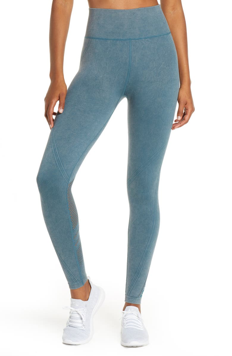 SOUL BY SOULCYCLE Sweaty Mesh High Waist Leggings, Main, color, HYDRO