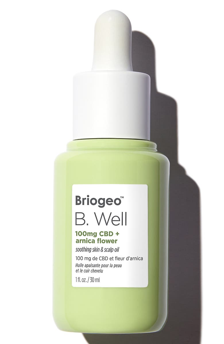 BRIOGEO B. Well 100mg CBD + Arnica Flower Soothing Skin & Scalp Oil, Main, color, NO COLOR