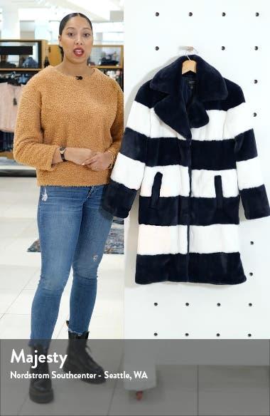 x Atlantic-Pacific Stripe Faux Fur Coat, sales video thumbnail