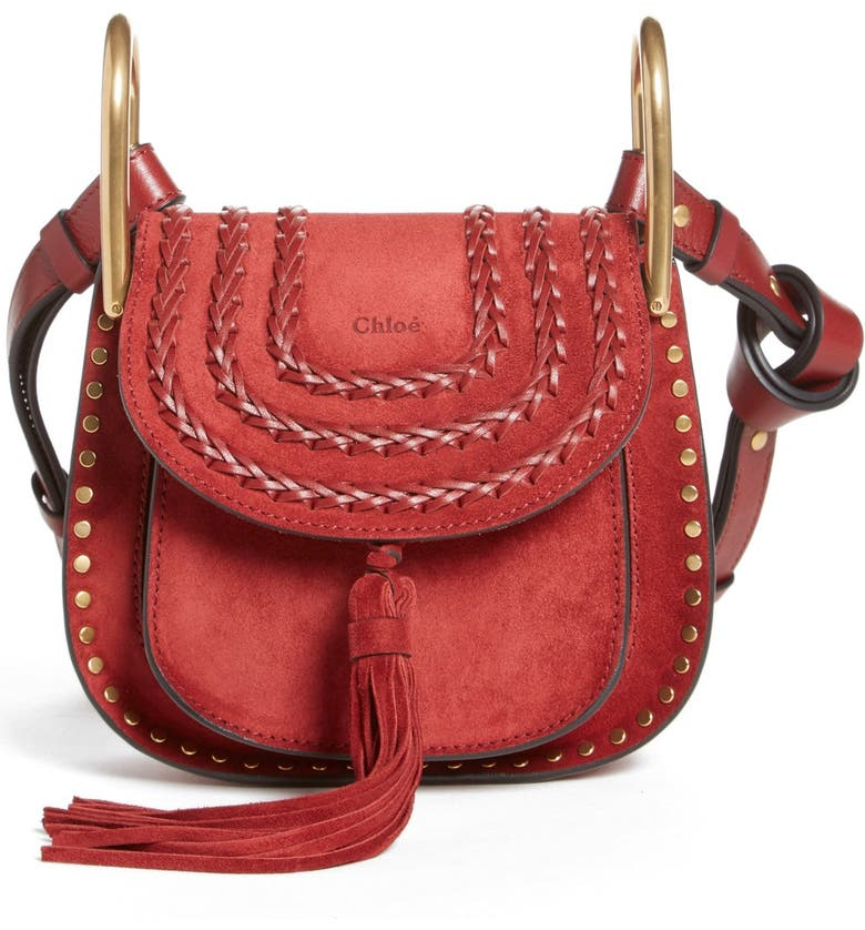 CHLOÉ 'Mini Hudson' Crossbody Bag, Main, color, 601