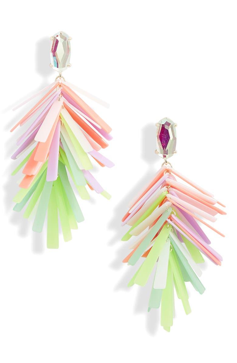 KENDRA SCOTT Jasper Fringe Drop Earrings, Main, color, 710