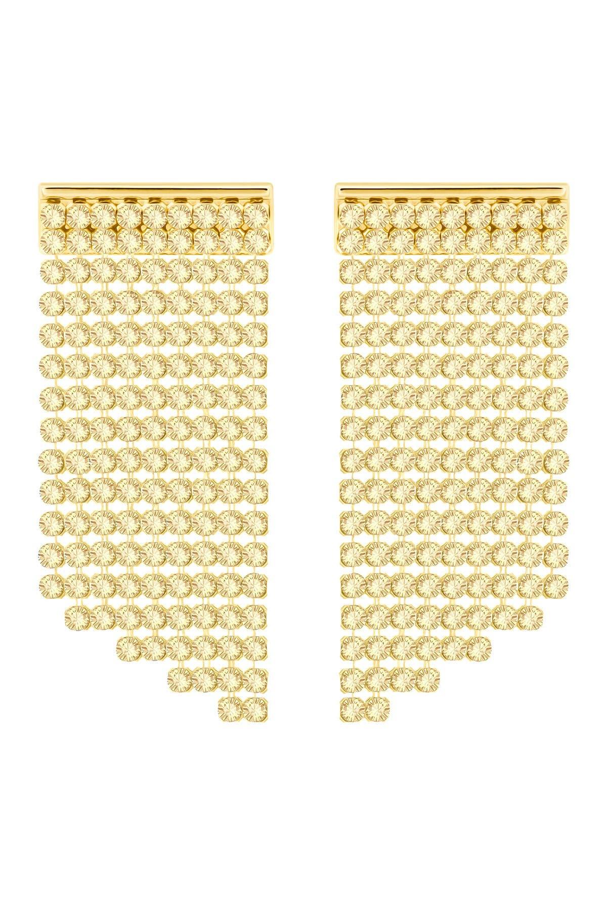 Image of Swarovski Crystal Mesh Drop Earrings