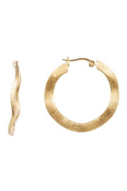 Image of Rivka Friedman 25mm Satin Wave Hoop Earrings