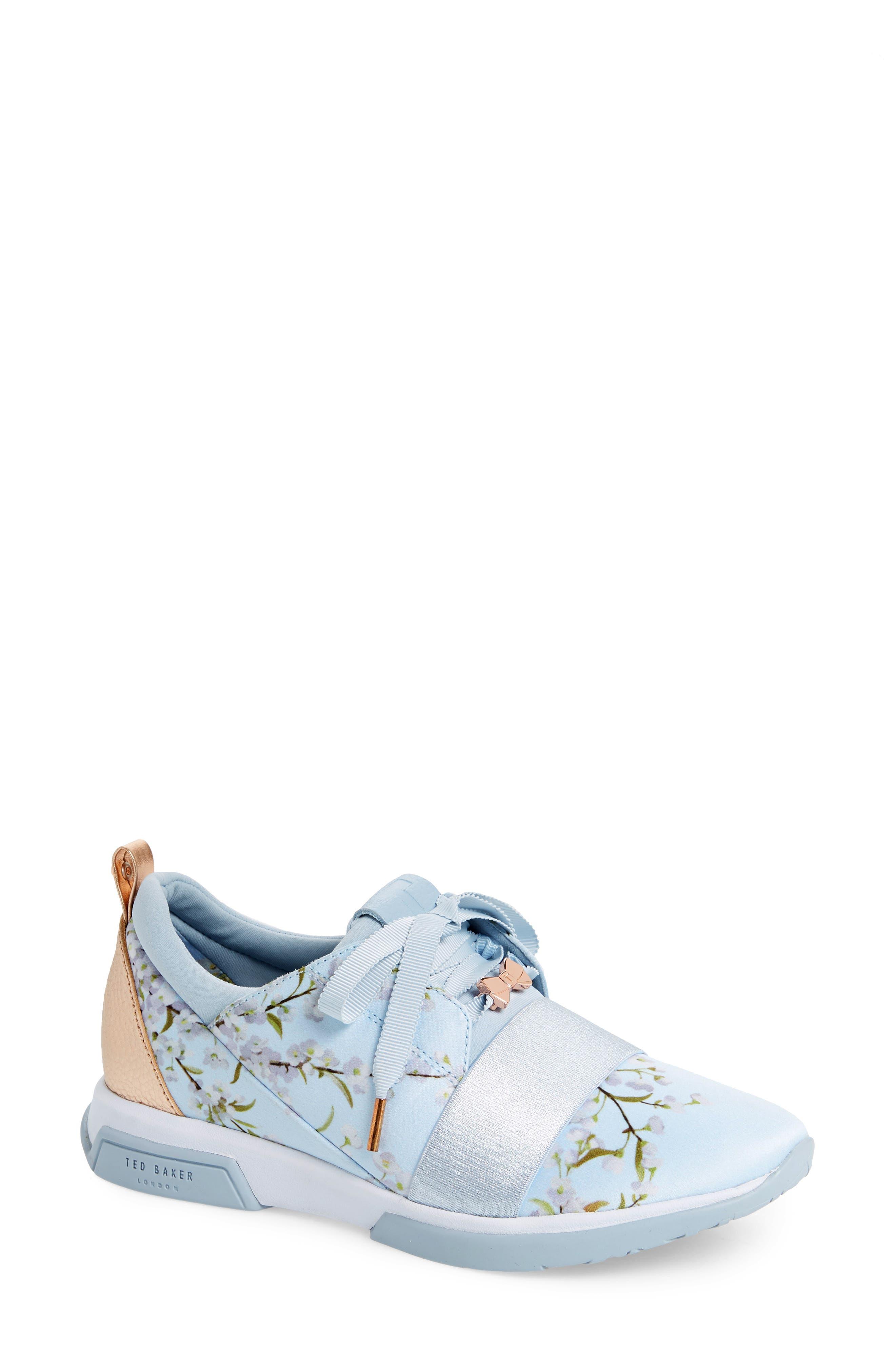 Ted Baker London Cepap Floral Sneaker, Blue