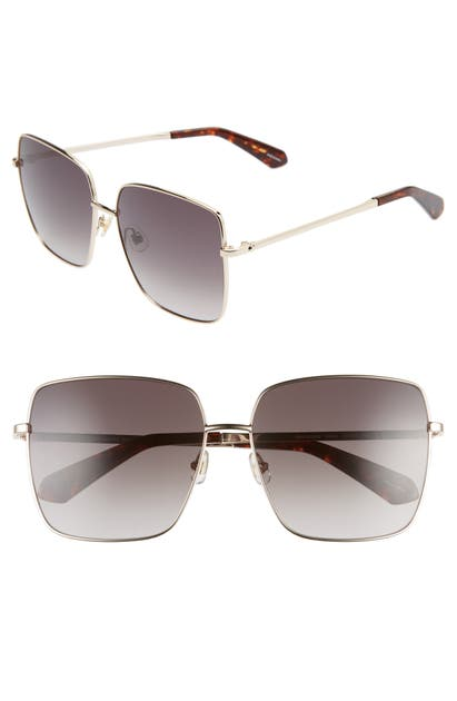Kate Spade Fenton 60mm Gradient Square Sunglasses In Dkhavana/ Brown Gradient
