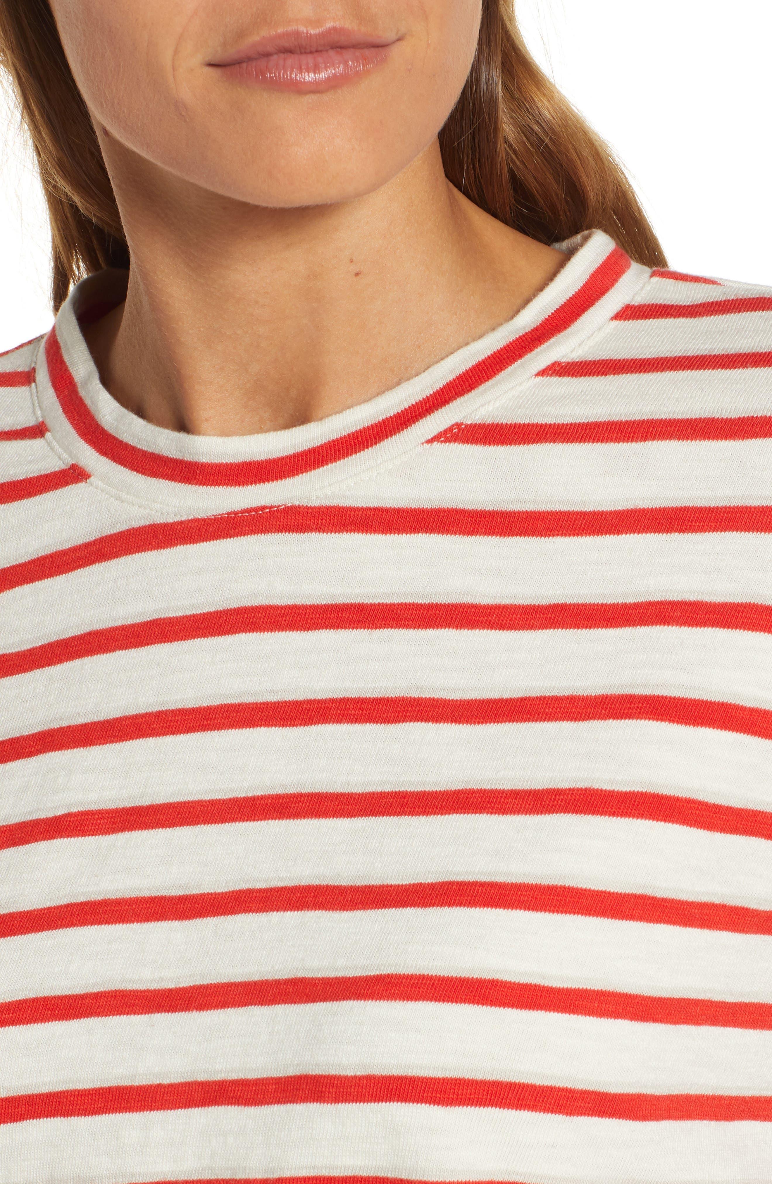 ,                             Bonnie Stripe Cotton Top,                             Alternate thumbnail 4, color,                             600
