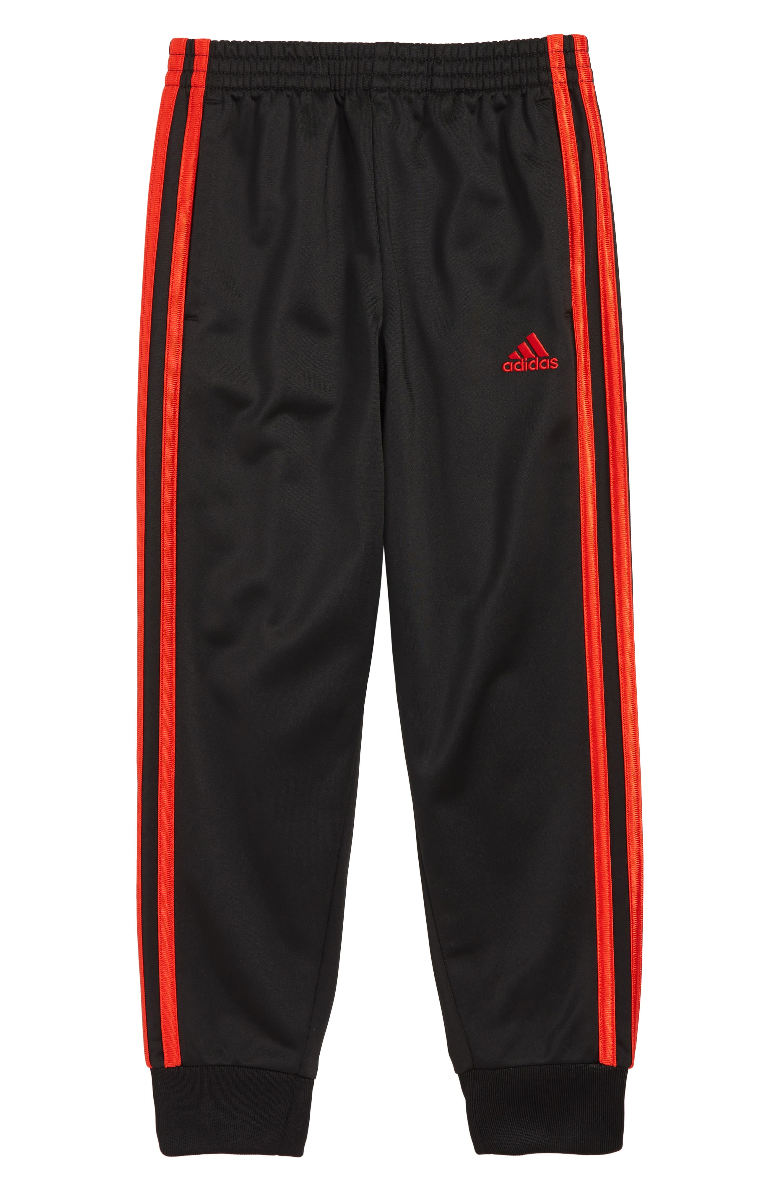 ,                             Impact Tricot Jogger Pants,                             Main thumbnail 1, color,                             BLACK/ RED