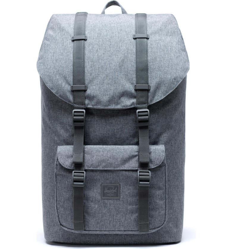 HERSCHEL SUPPLY CO. Little America Backpack, Main, color, RAVEN CROSSHATCH