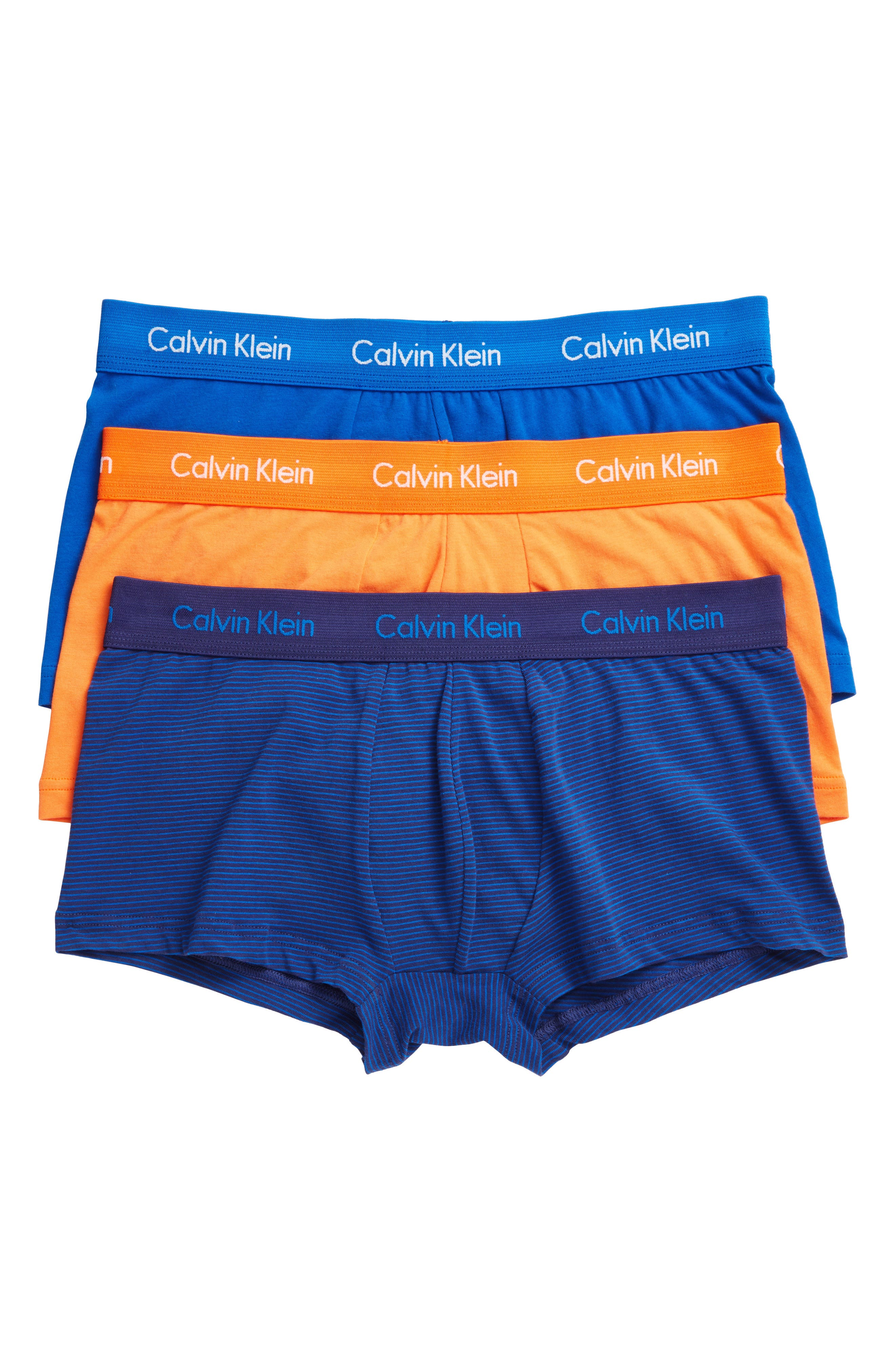 ,                             3-Pack Stretch Cotton Low Rise Trunks,                             Main thumbnail 122, color,                             463