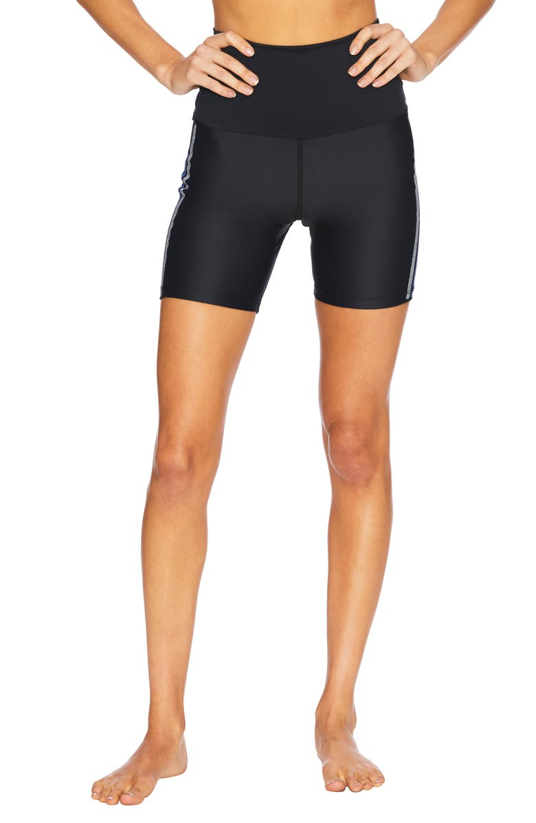BEACH RIOT Rib Bike Shorts, Main, color, BLACK