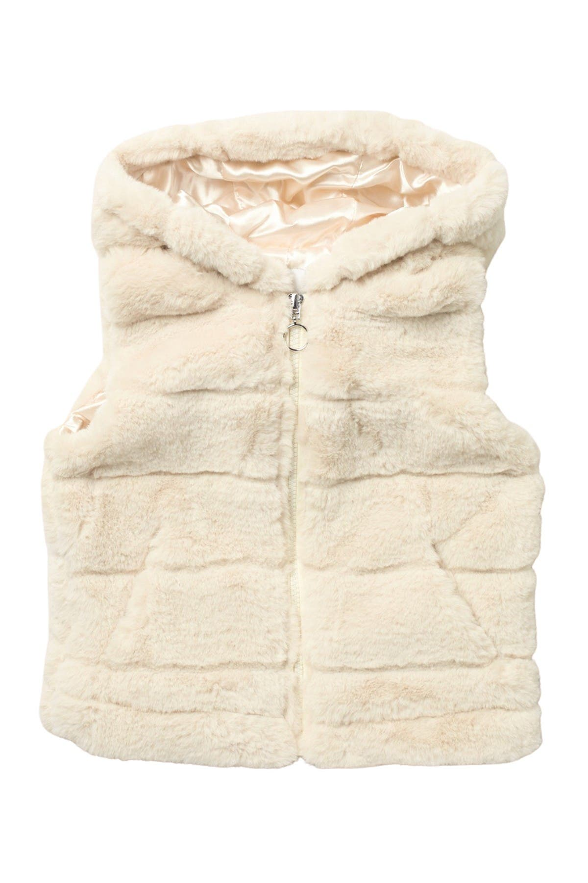 Image of Urban Republic Faux Fur Hooded Zip-Up Vest