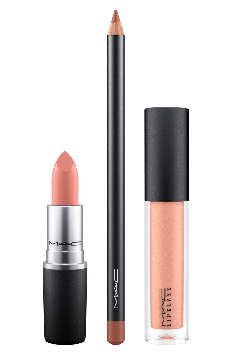 MAC COSMETICS MAC Up Close and Personal Lip Set, Main, color, GO GET NUDE