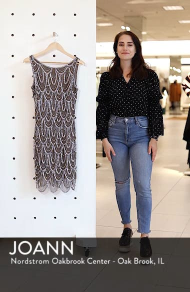 Embellished Mesh Sheath Dress, sales video thumbnail