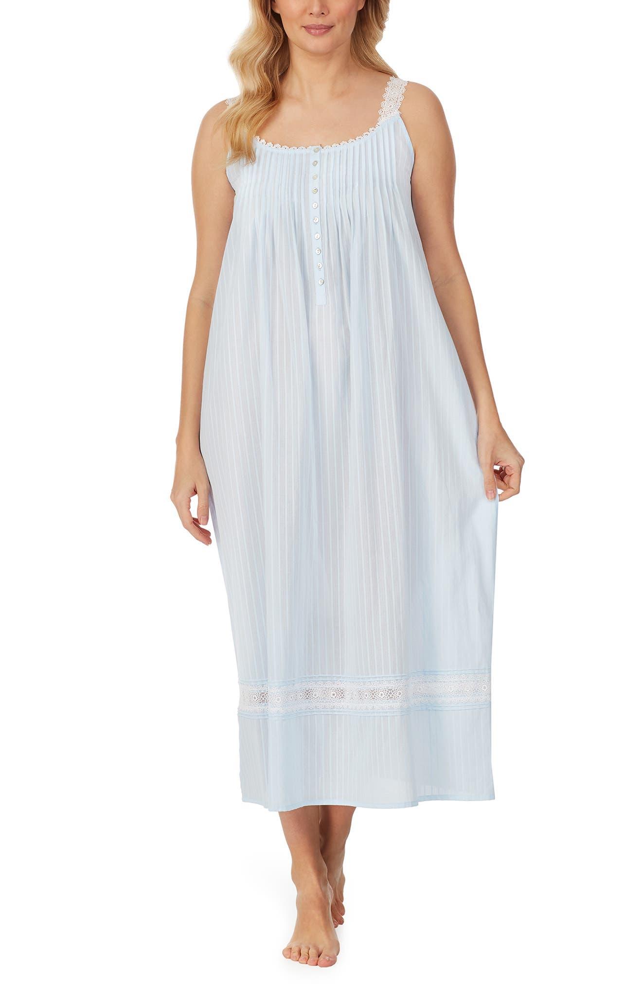 Sleeveless Cotton Nightgown