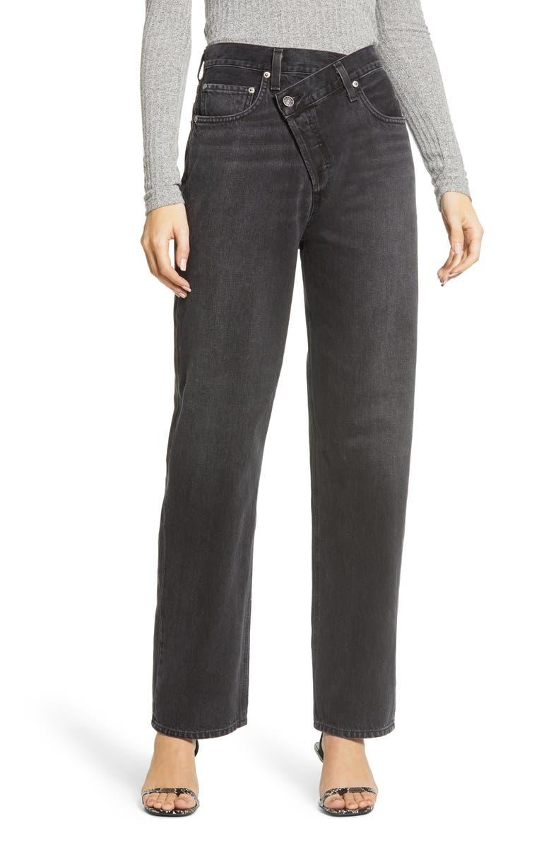 AGOLDE Criss Cross Upsize High Waist Nonstretch Jeans, Main, color, 008
