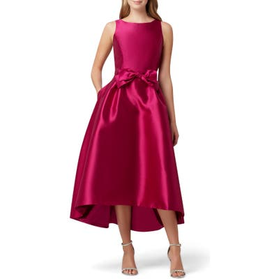 Tahari Mikado High/low Gown, Purple