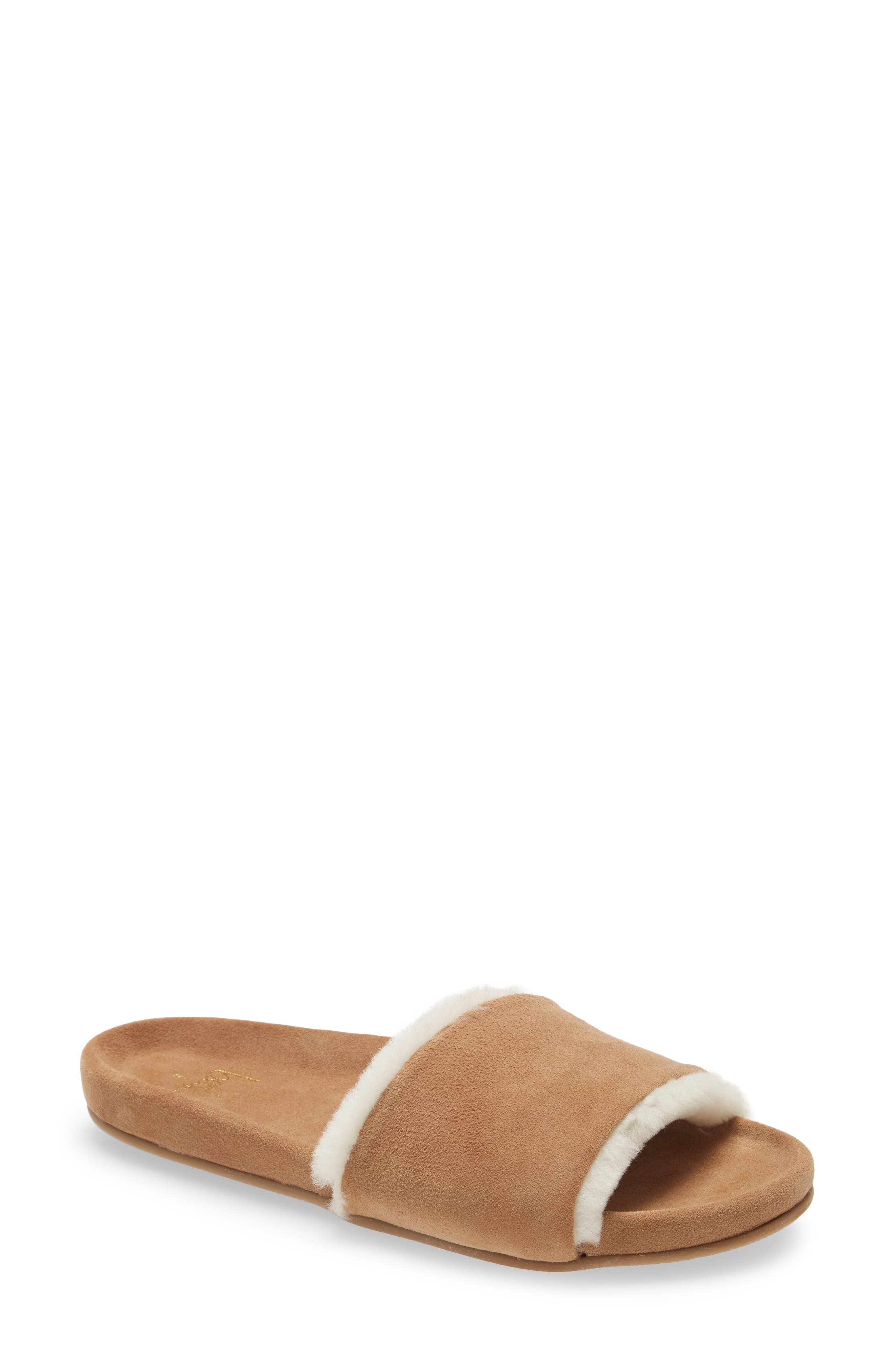 Gallito Genuine Shearling Slide Sandal