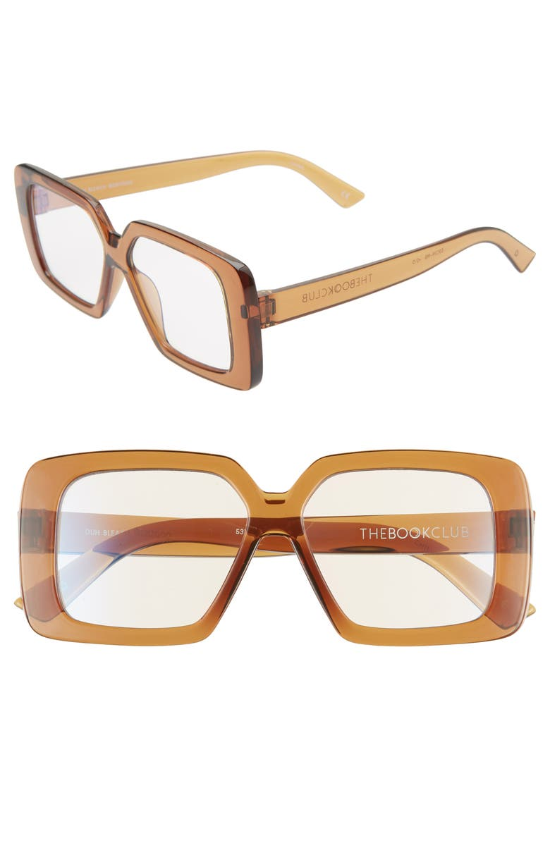 THE BOOK CLUB Duh Bleach 53mm Reading Glasses, Main, color, CRYSTAL COLA