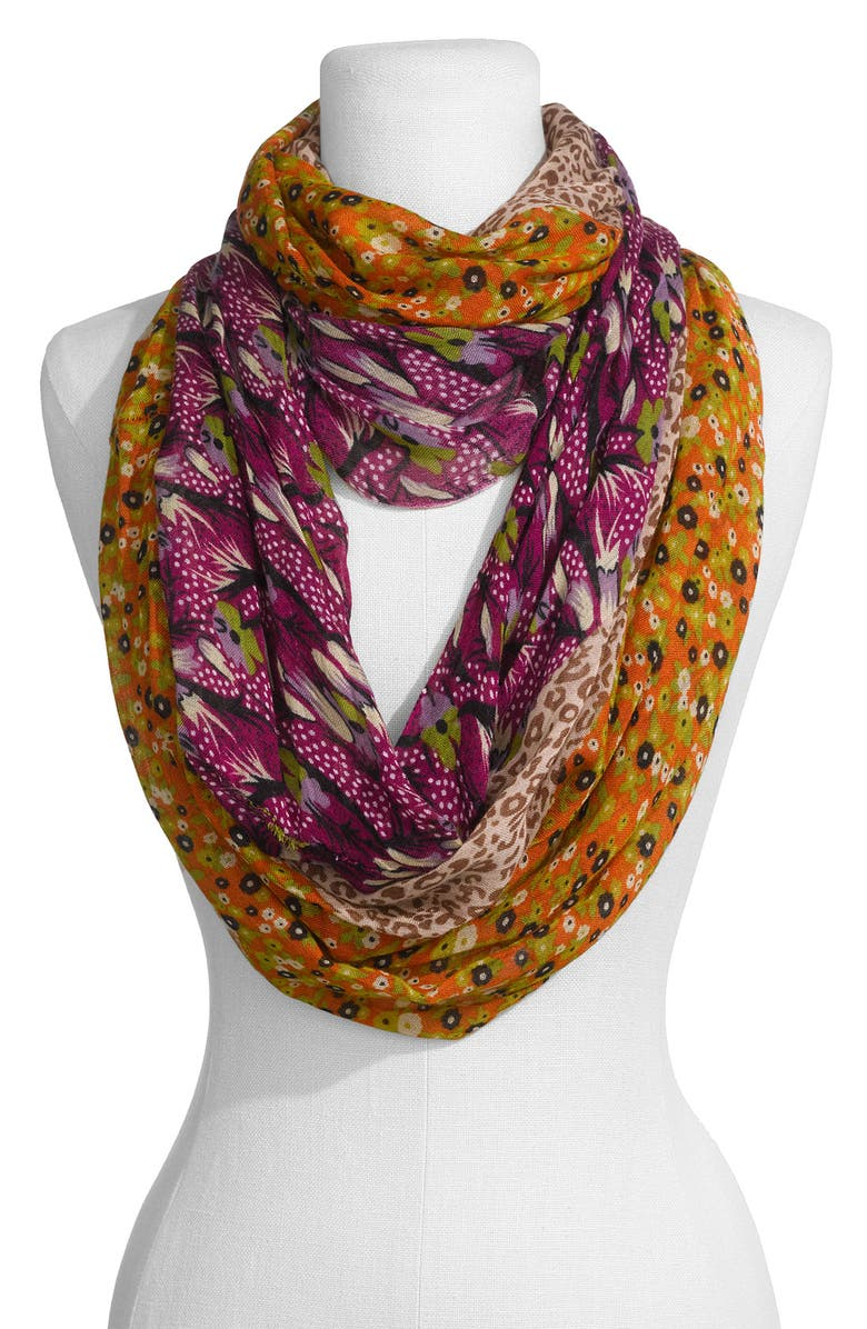 LULU Floral & Animal Pattern Infinity Scarf, Main, color, 930