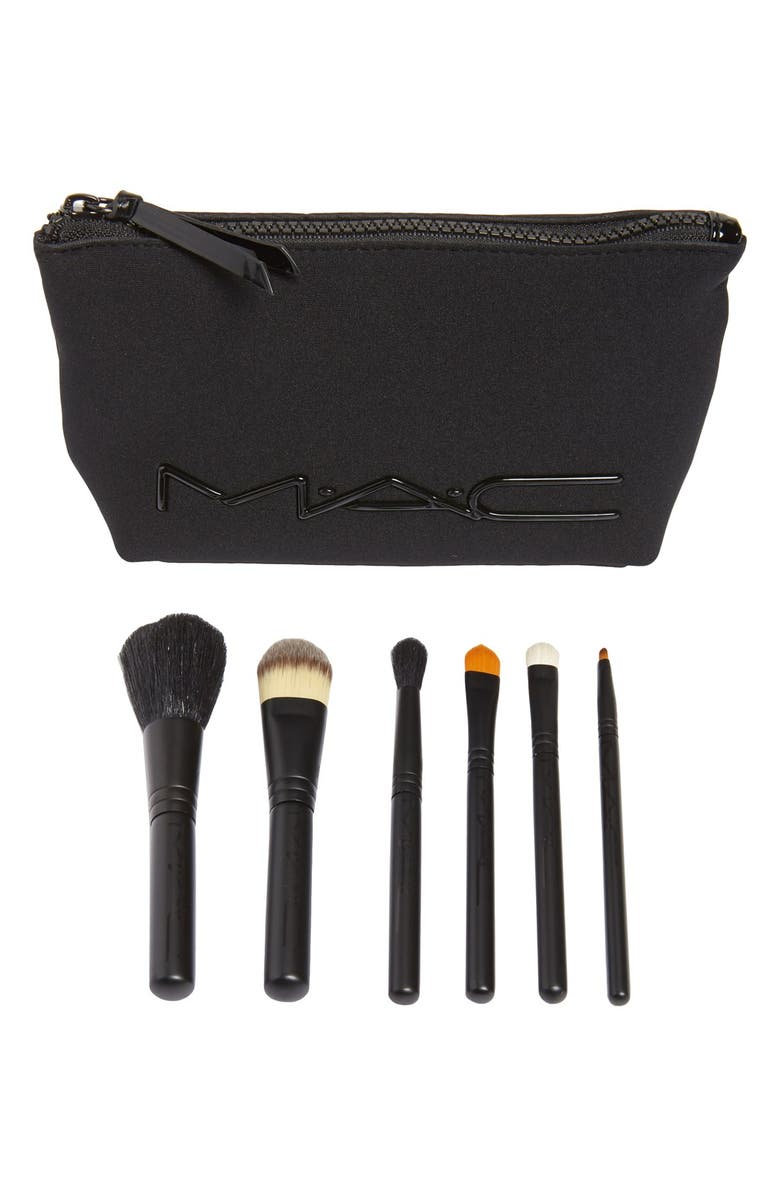 MAC COSMETICS M·A·C 'Look in a Box - Basic' Travel Brush Kit, Main, color, 000