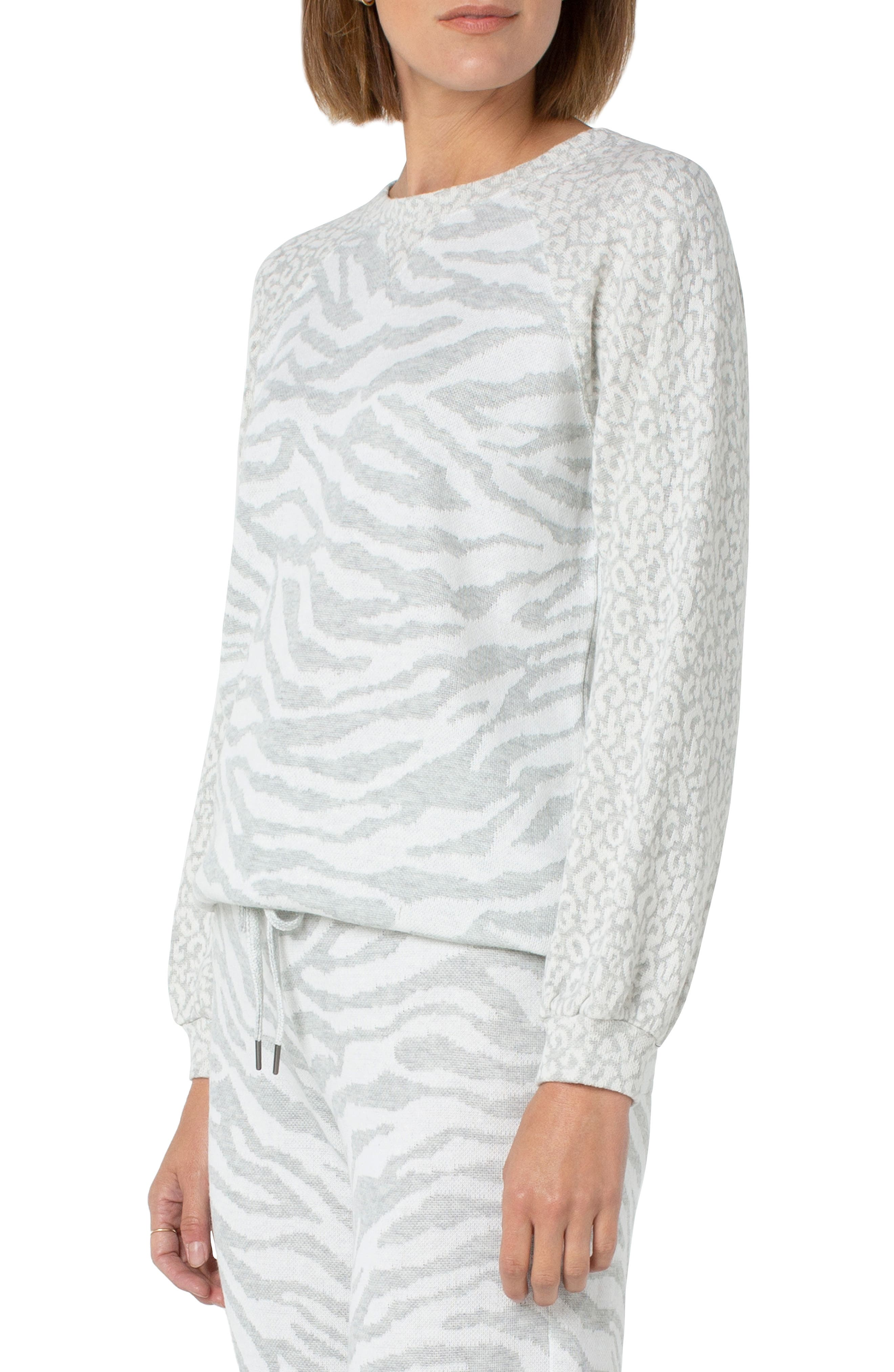 Mix Animal Stripe Jacquard Sweater