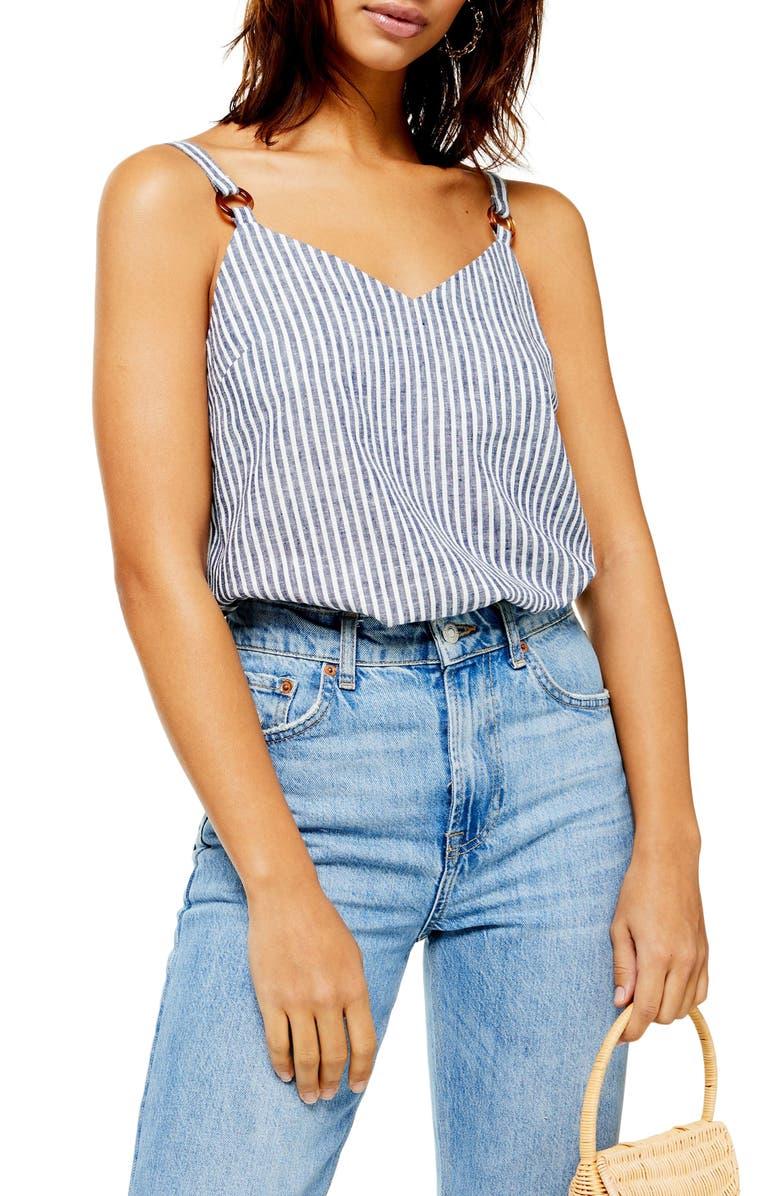 Tilda Stripe Camisole by Topshop