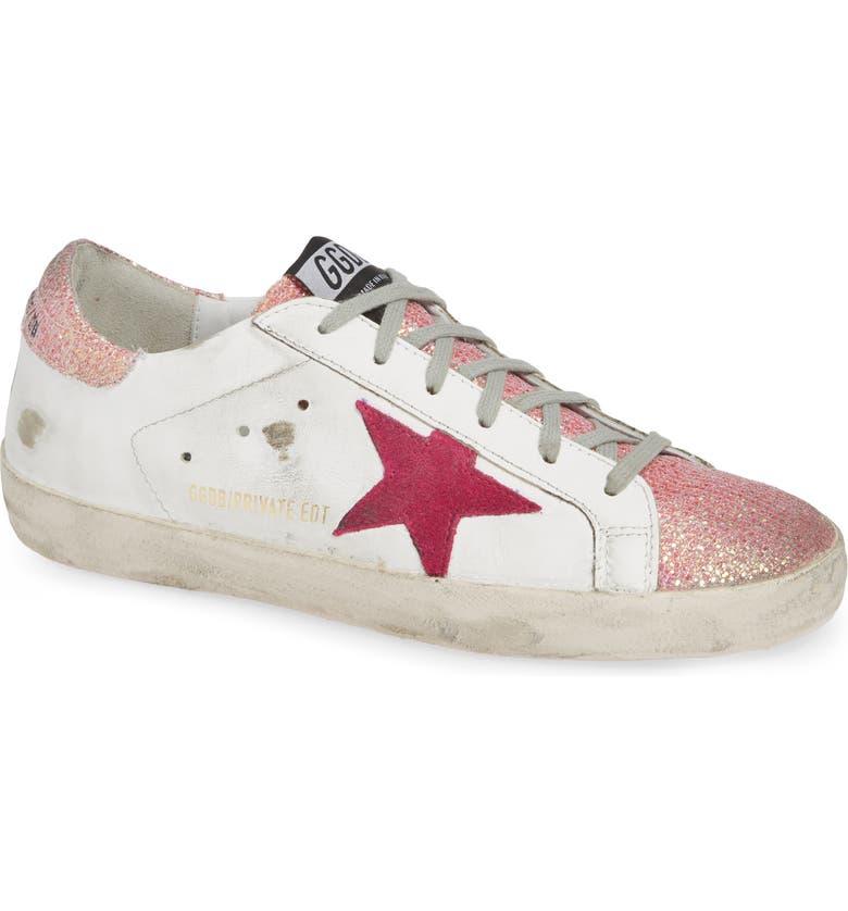 GOLDEN GOOSE Superstar Sneaker, Main, color, WHITE/ PINK
