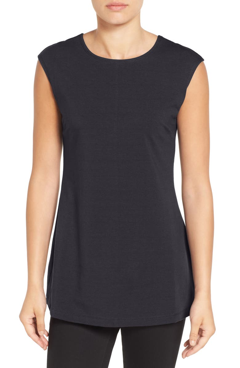 NIC+ZOE Perfect Layer Tank, Main, color, BLACK ONYX