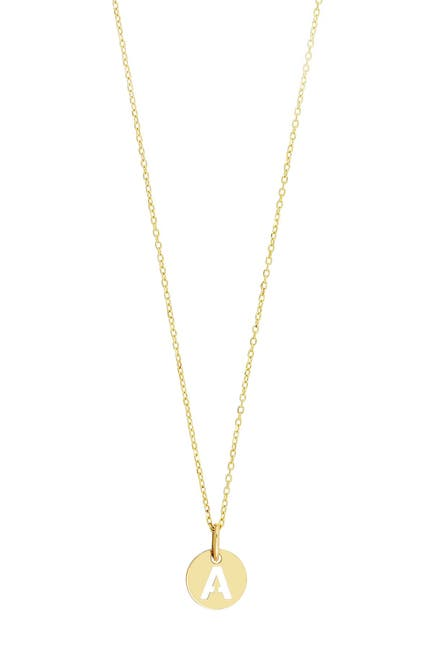 Image of Bony Levy 14K Yellow Gold Small Initial Pendant Necklace - Multiple Letters Available