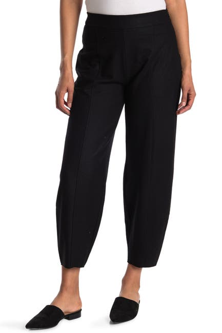 Image of Eileen Fisher Wool Pull-On Ankle Pants