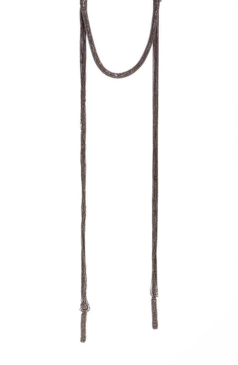 BRUNELLO CUCINELLI Monili Wrap Necklace, Main, color, ROSE GOLD