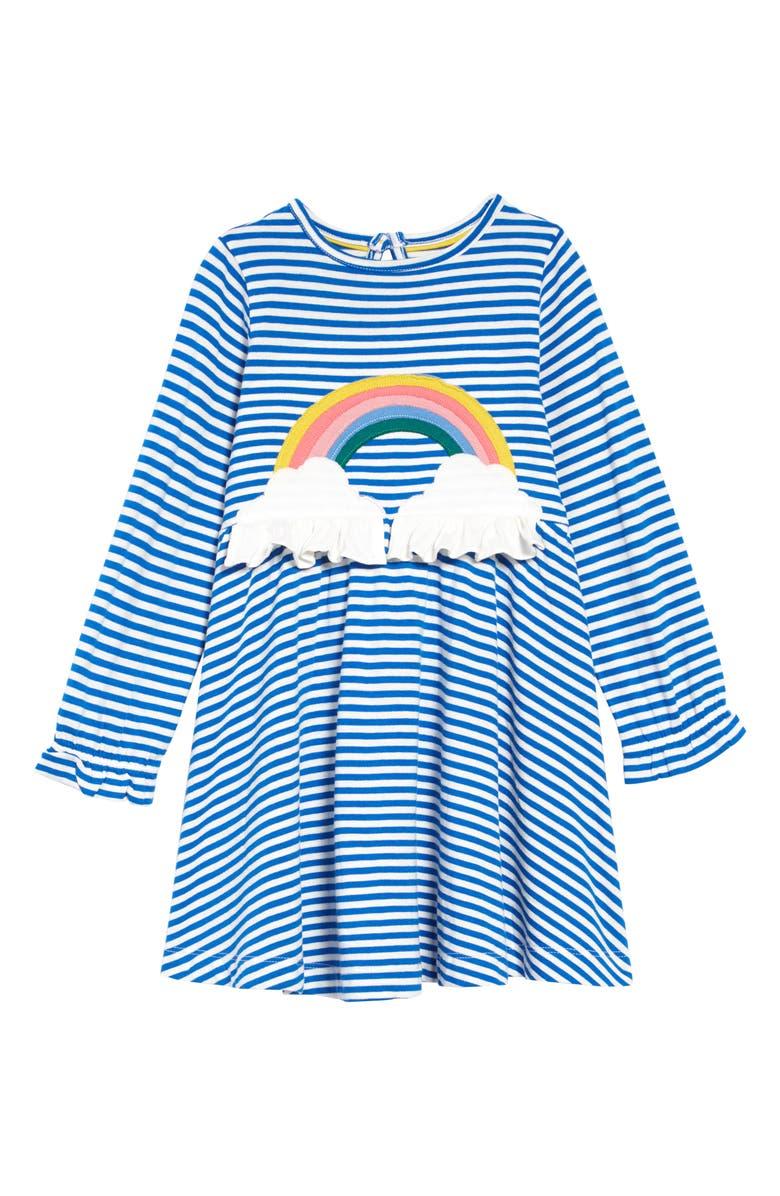 MINI BODEN Fun Appliqué Jersey Dress, Main, color, 424