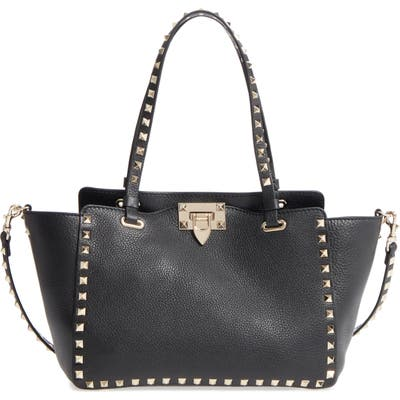 Valentino Garavani Rockstud Leather Tote - Black