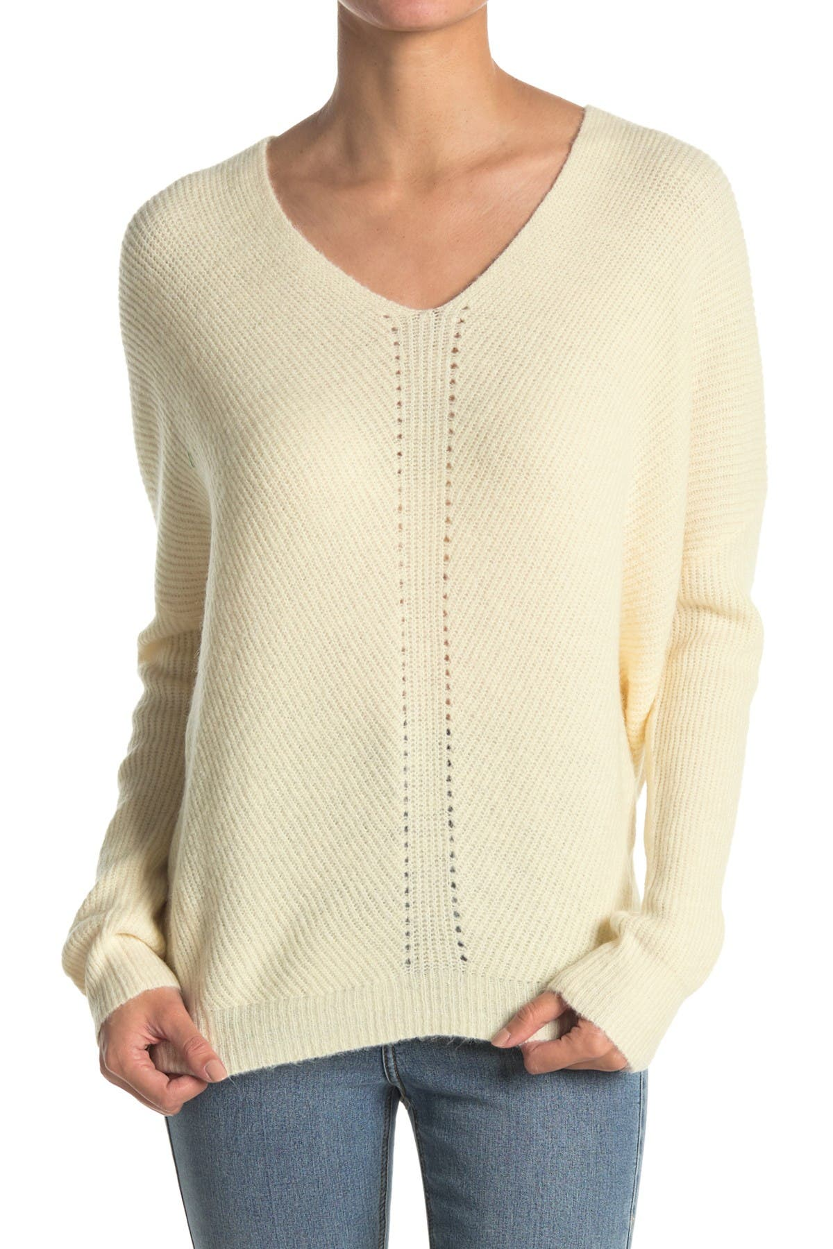 Image of Lush Solid V-Neck Sweater