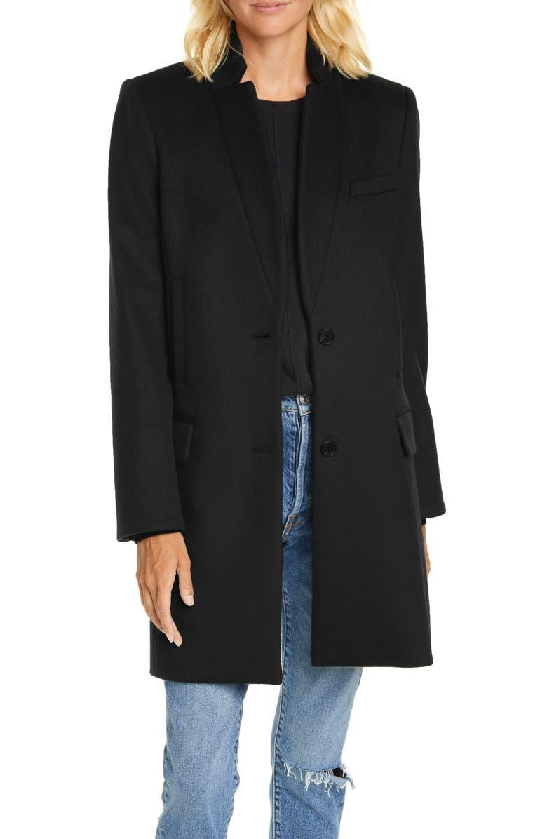 VERONICA BEARD Wool Blend Car Coat, Main, color, BLACK