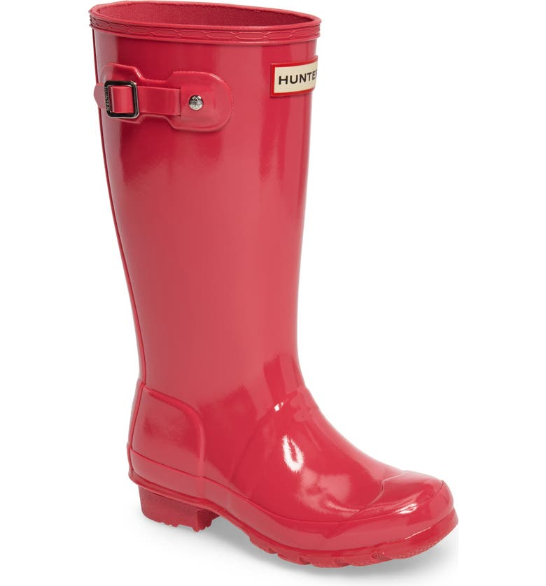 HUNTER 'Original Gloss' Rain Boot, Main, color, BRIGHT PINK