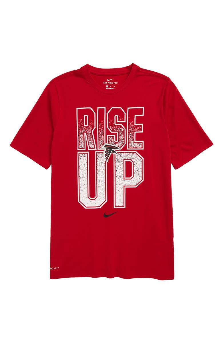 NIKE NFL Logo Atlanta Falcons Dri-FIT T-Shirt, Main, color, GYM RED