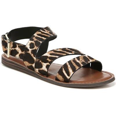 Franco Sarto Lizzie Genuine Calf Hair Sandal, Brown