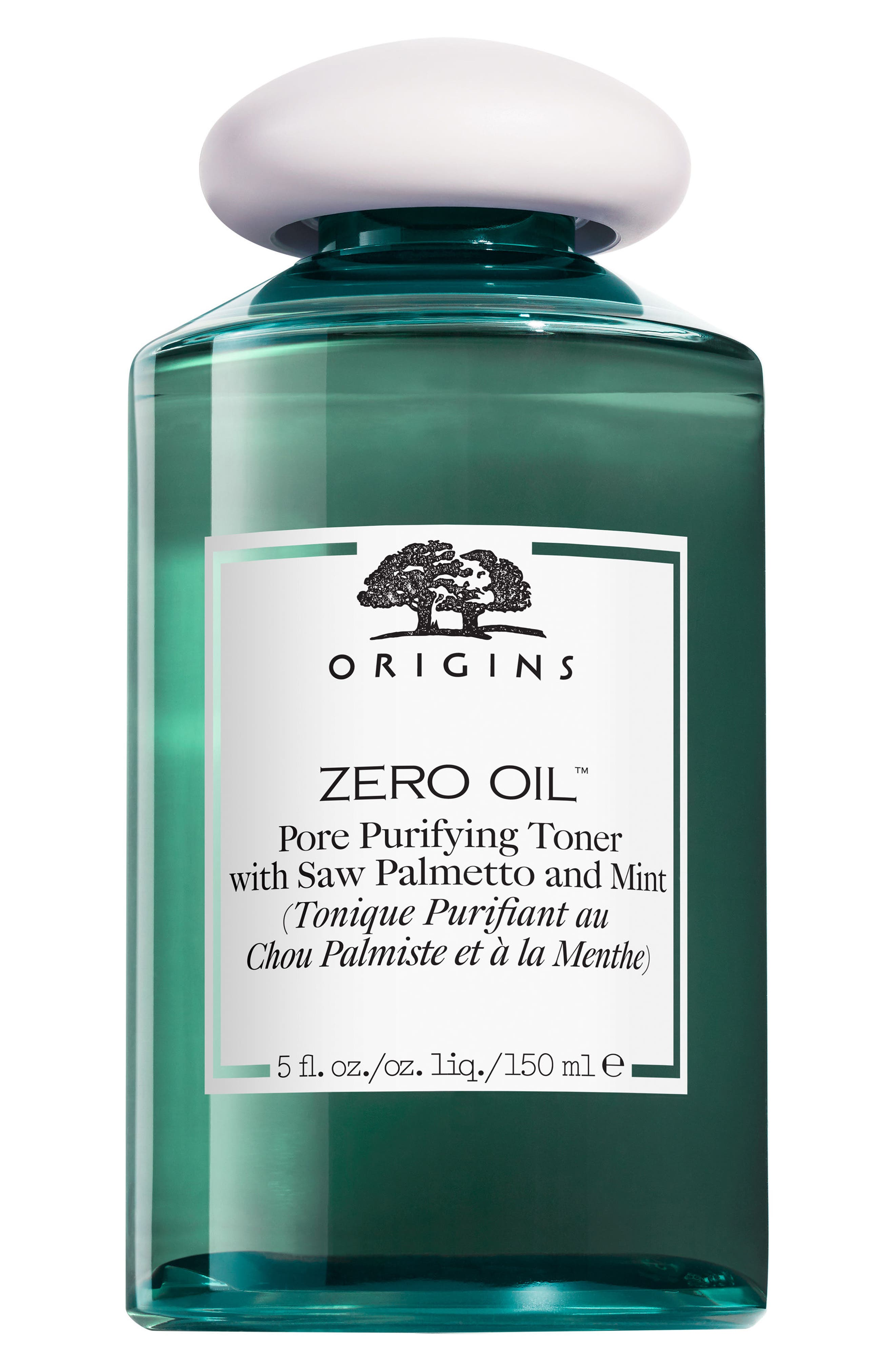 Zero Oil Pore Purifying Toner with Saw Palmetto & Mint, Main, color, NO COLOR