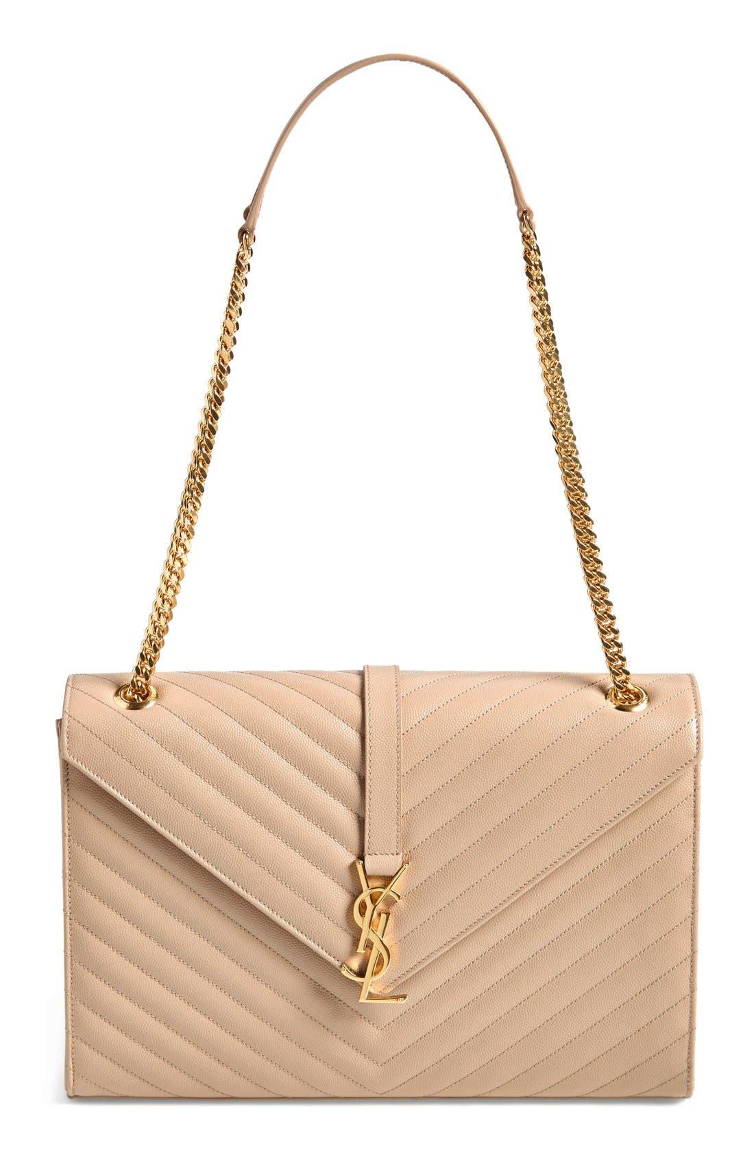 ,                             'Large Monogram' Grained Leather Shoulder Bag,                             Main thumbnail 25, color,                             250