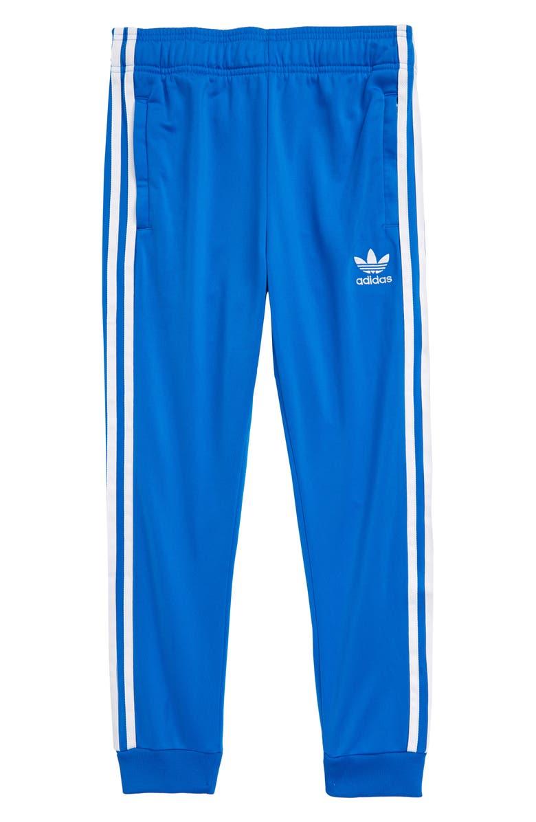 ADIDAS ORIGINALS Superstar Track Pants, Main, color, BLUEBIRD/ WHITE
